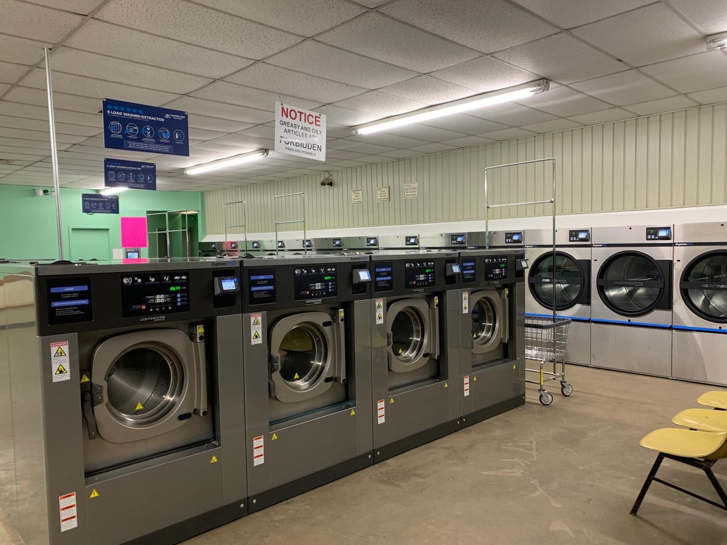 Laundromat in Rittman Ohio with card operated washers and dryers