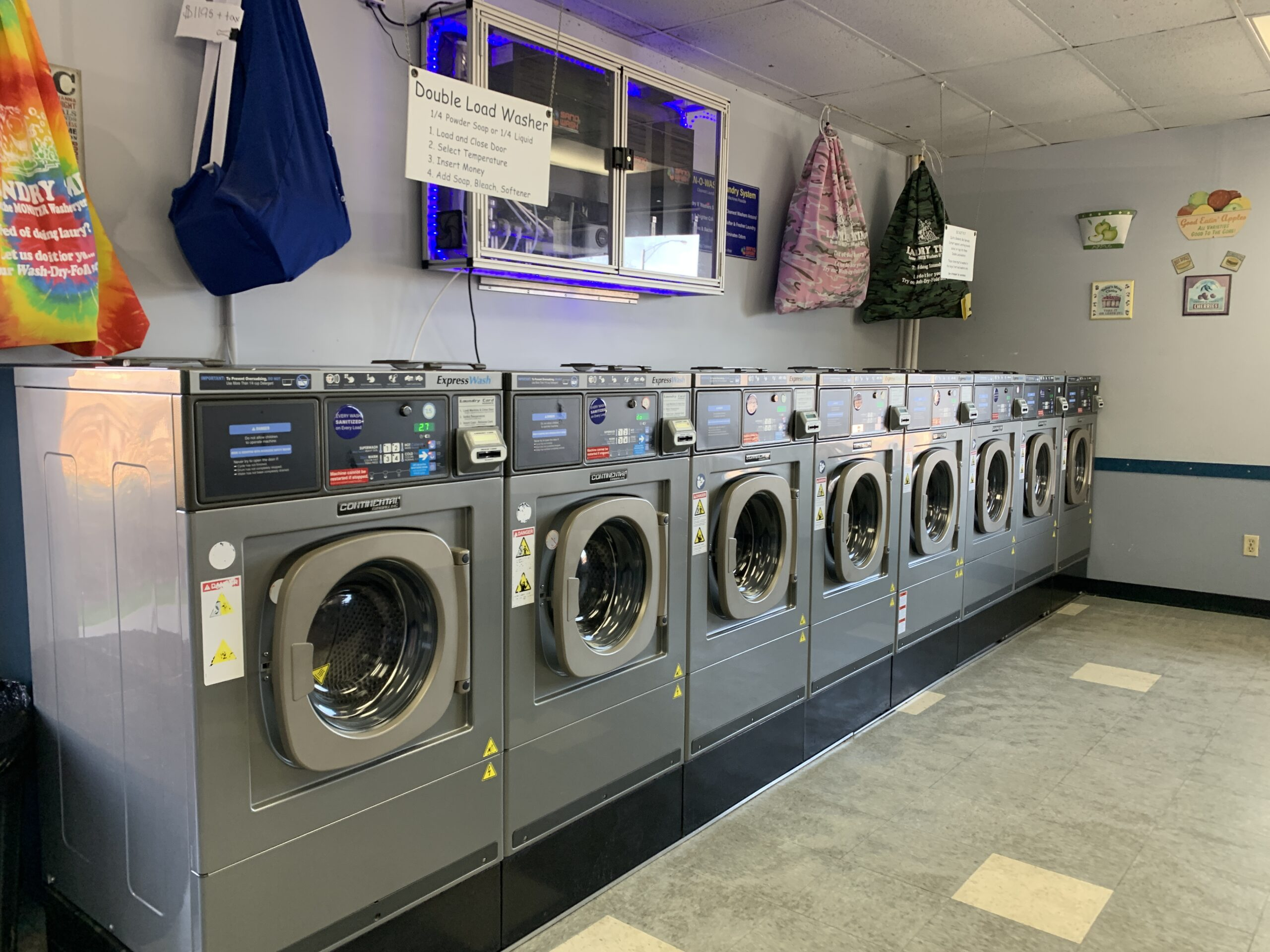 ozone sanitizing system in laundry time stow